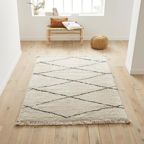 tapis berbère blanc et noir scandinave