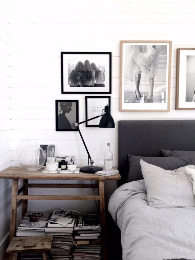 slow deco chambre noir blanc gris