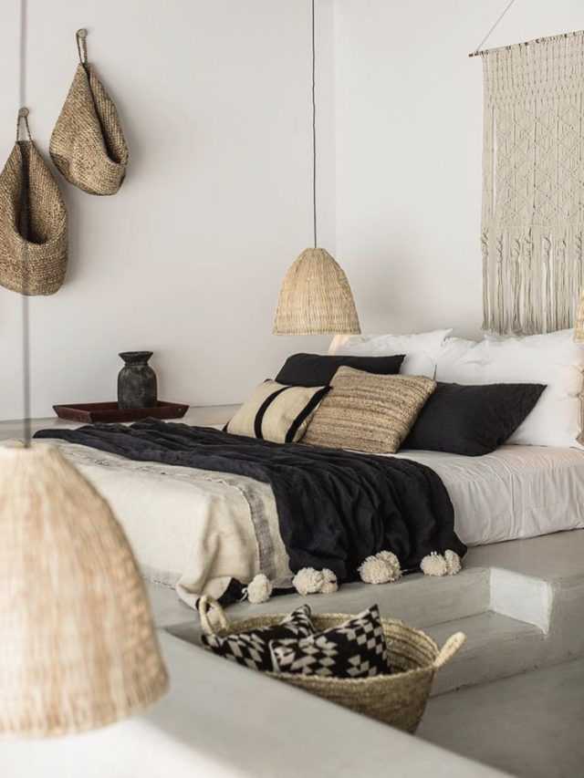 chambre slow noir blanc bois