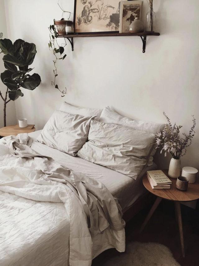 linge de lit naturel chambre deco slow
