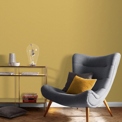 salon nuance de jaune chaleureux peinture