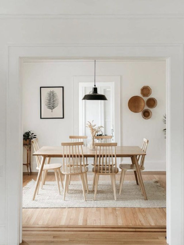 salle a manger style slow chaises scandinaves