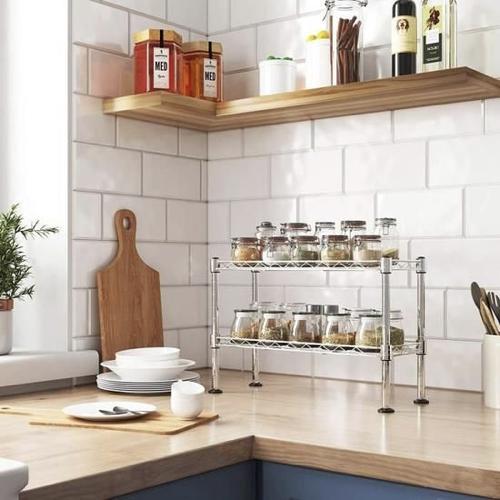 gain de place cuisine aménagement rangement etagere appoint plan de travail
