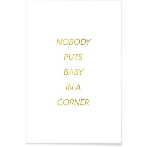 affiche deco cadeau à offrir bébe dans un coin