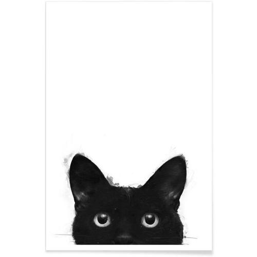 affiche deco cadeau à offrir chat noir