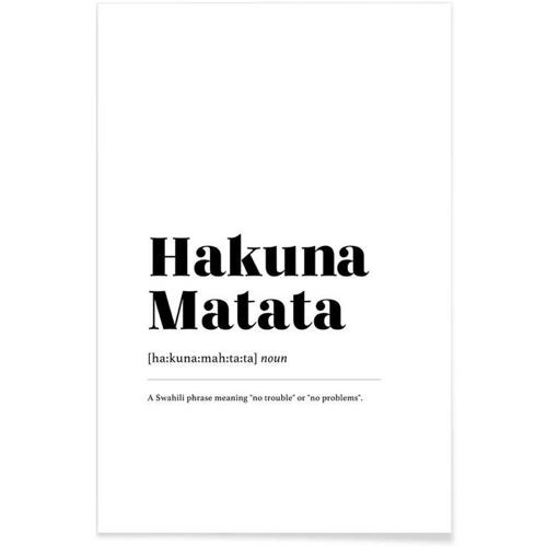 affiche deco cadeau à offrir hakuna matata