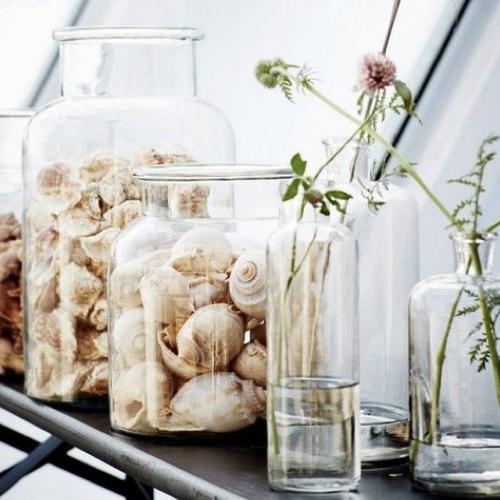 cadeau deco noel pas cher vase en verre rétro