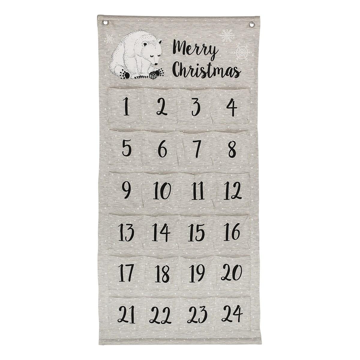 calendrier avent deco enfant ourson