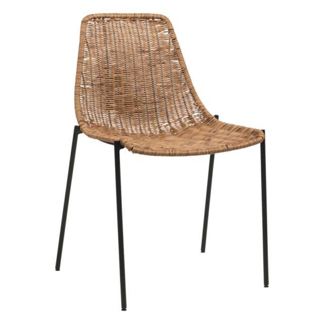 coin repas 4 pieds chaise rotin moderne tendance