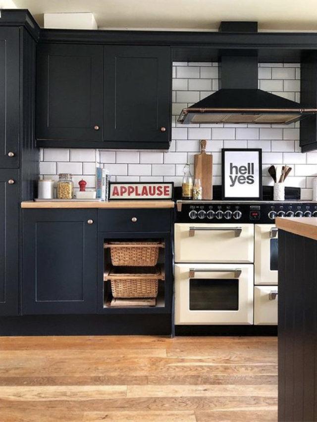 cuisine decoration style rock ancien et moderne