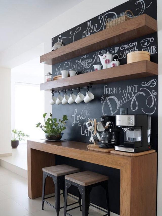 cuisine decoration style rock peinture ardoise