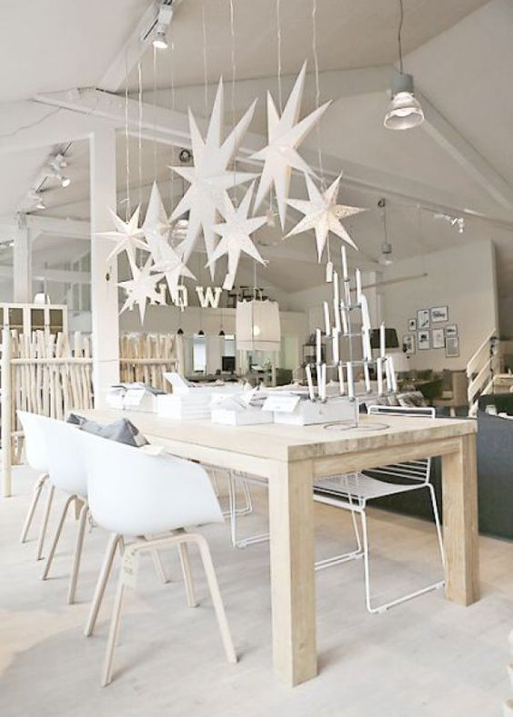 deco noel blanc exemple salle a manger