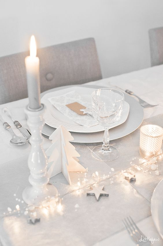 deco table noel blanc exemple
