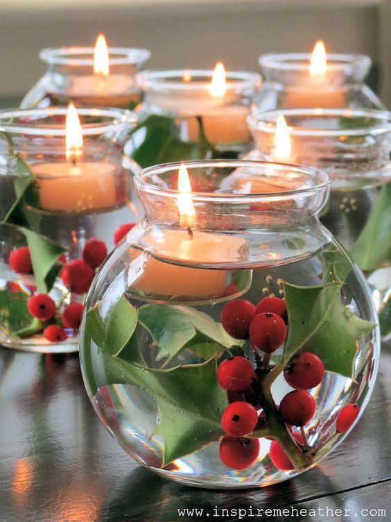 deco DIY noel chaleureux bougies