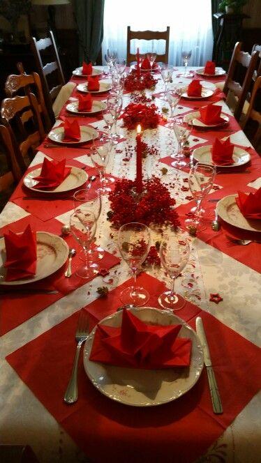 deco de table noel rouge exemple