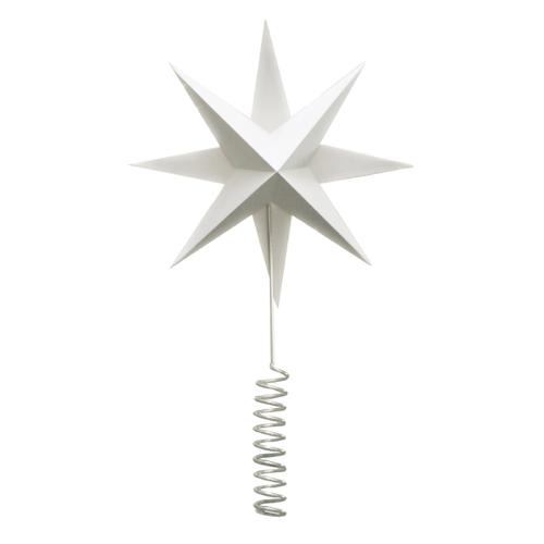 étoile commet sapin de noel blanche