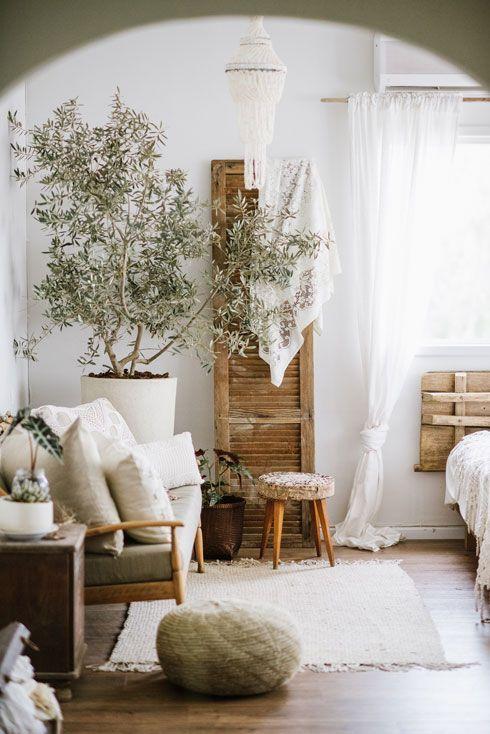 decoration hygge salon moderne blanc beige écru