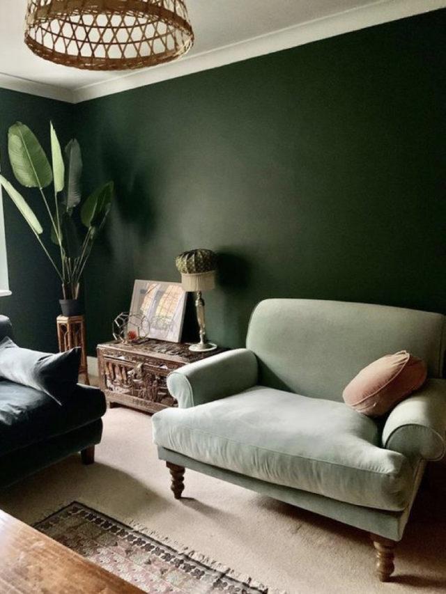 fauteuil classique vert sauge