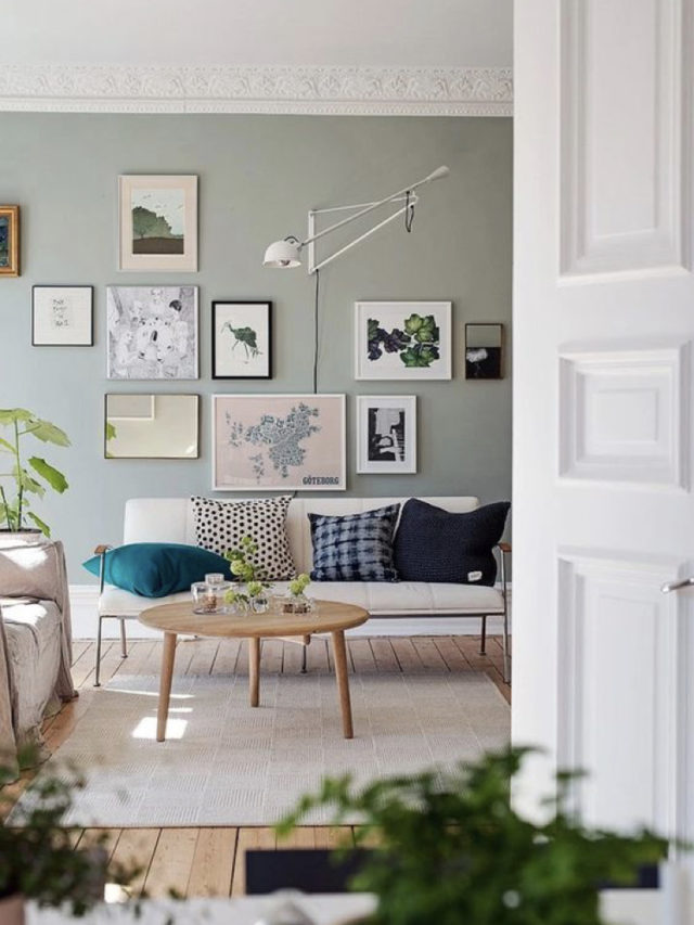 salon vert sauge moderne