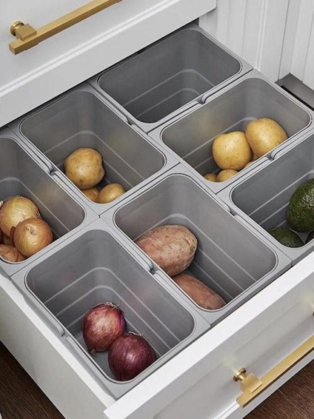 organisateur cuisine gain de place légume