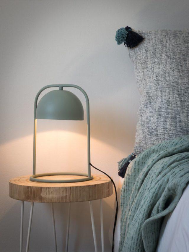 lampe chevet vert sauge maisons du monde moderne