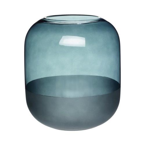 noel cadeau deco pas cher vase bleu en verre