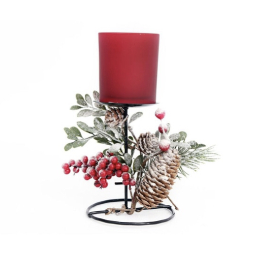 ou trouver deco noel rouge moderne bougeoir