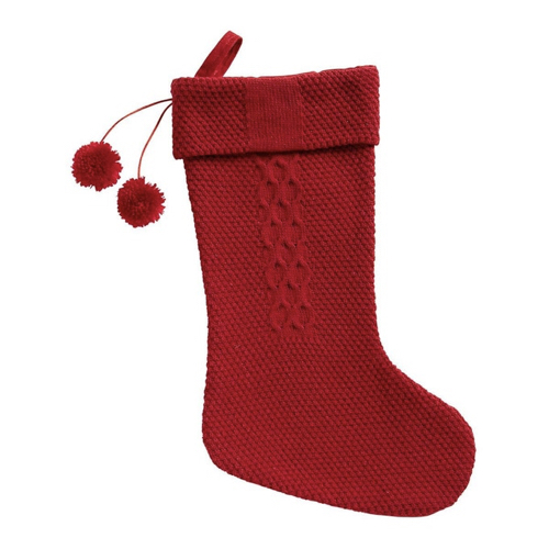 ou trouver deco noel rouge moderne chaussette cheminee