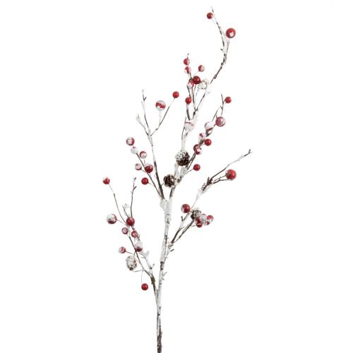 ou trouver deco noel rouge moderne branche articifielle
