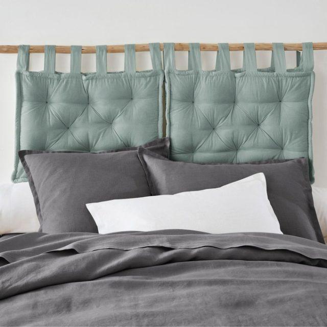 ou trouver mobilier chambre vert sauge tête de lit