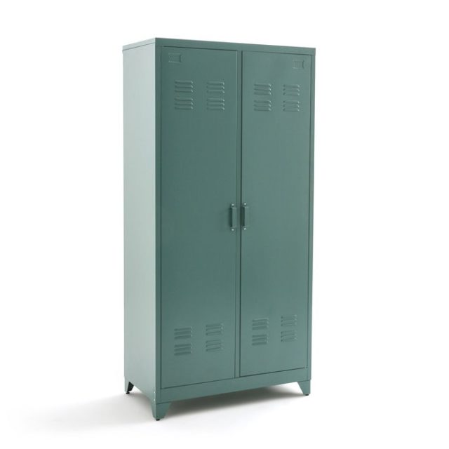 ou trouver mobilier chambre vert sauge vestiaire métallique
