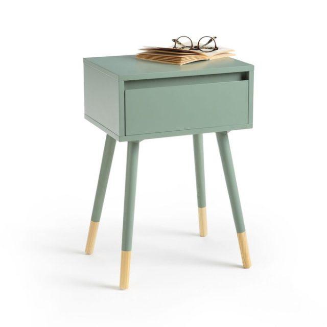 ou trouver table de nuit vert sauge 1 tiroir