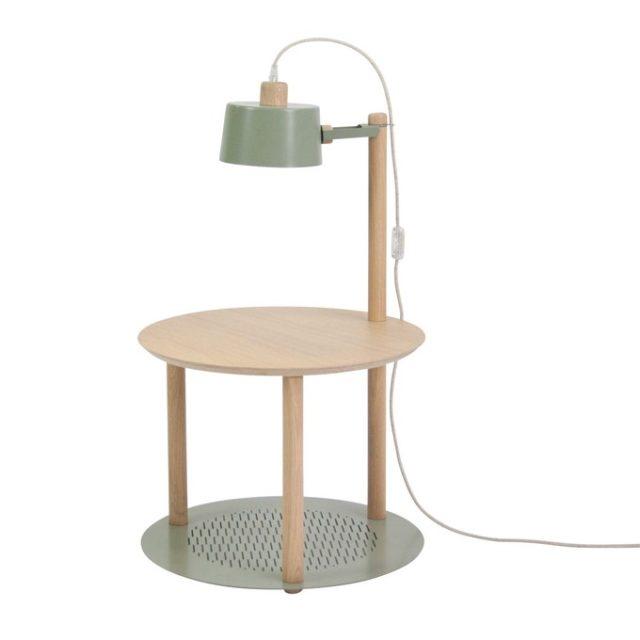 ou trouver table de nuit vert sauge moderne