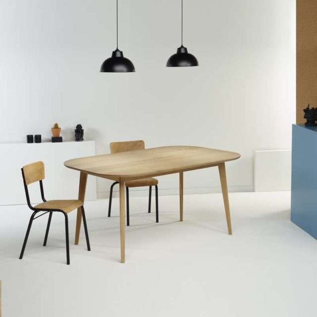 salle a manger 4 pieds table scandinave bois