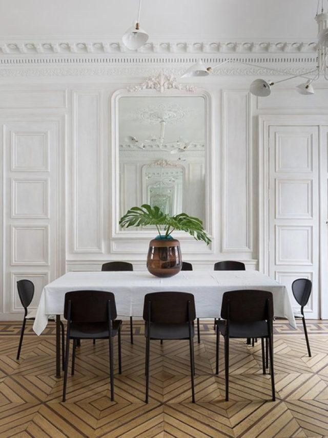 salle a manger deco style classique chic blanc