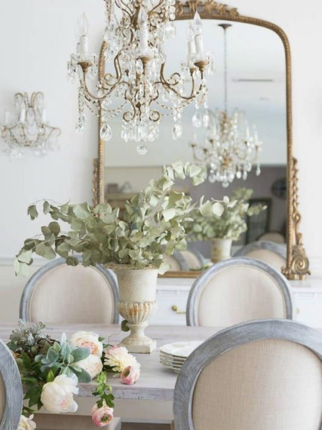 salle a manger deco style classique chic shabby