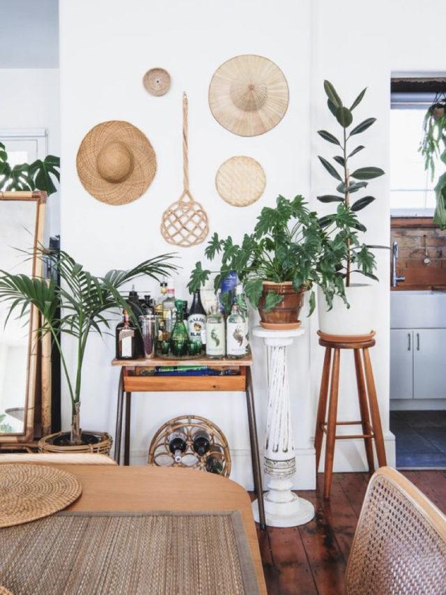 salle a manger style nature exemple console recup plante surélevée