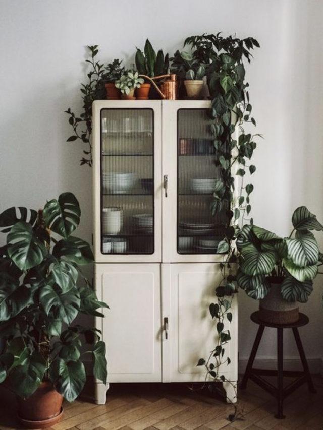 salle a manger style nature exemple meuble rétro chiné