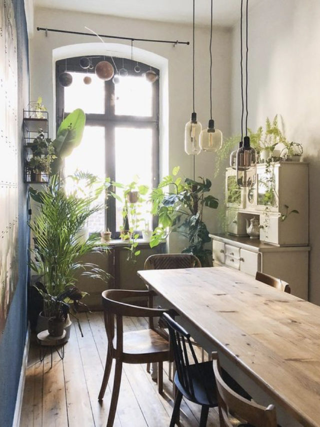 salle a manger style nature lumineuse