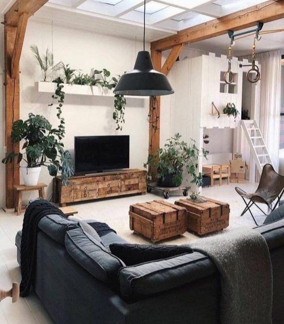 salon deco durable recup meuble tv