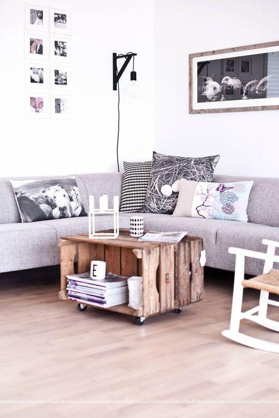 salon deco durable recup palette table basse