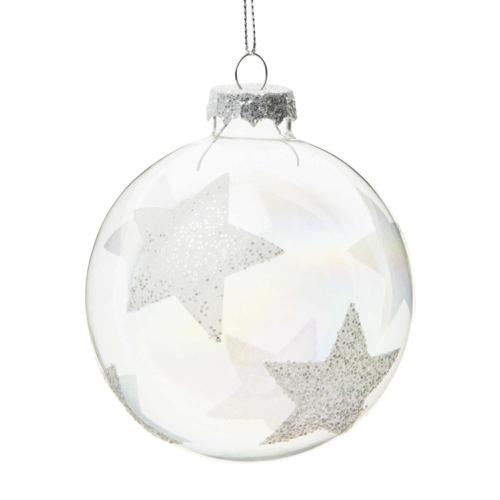 sapin deco noel pour les nuls boule verre blanche étoile