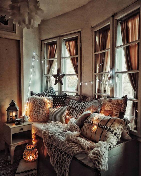 style hygge decoration salon ambiance cosy