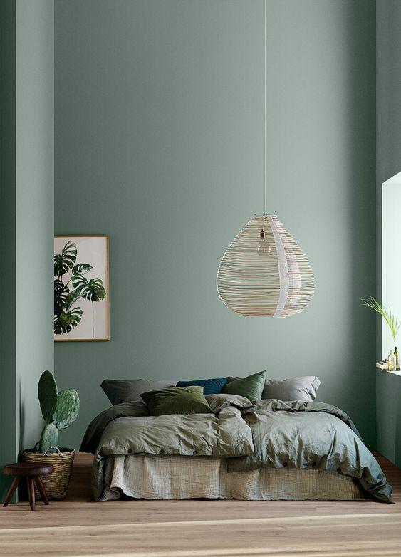 vert sauge chambre comment l'utiliser ton sur ton