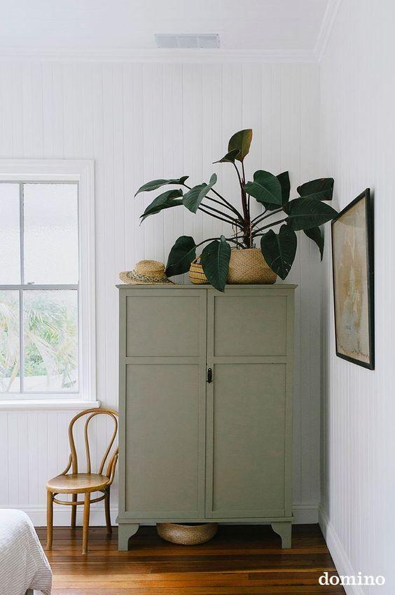 vert sauge chambre mobilier