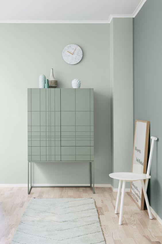 vert sauge chambre meuble