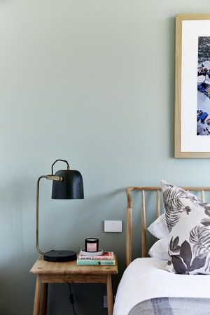 vert sauge chambre noir lampe de chevet