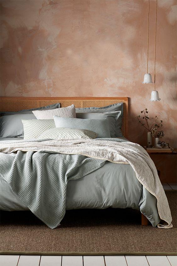 vert sauge chambre parure de lit