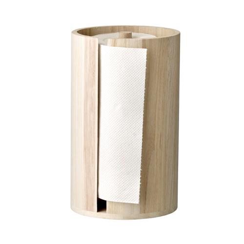 accessoire en bois decoration cuisine blanche devidoir sopalin