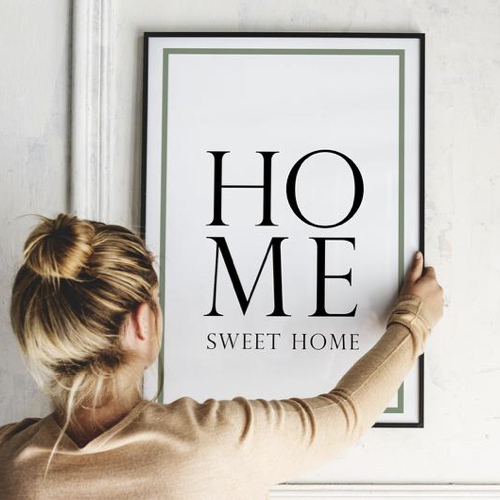 affiche deco entree pas cher home sweet home